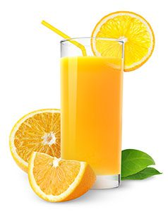 acidic drinks orange juice